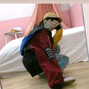 Jackets & Blazers - ColorBlocked Jacket Zip Bomber Korean Fashion